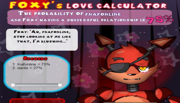Freddy's Love Calculator